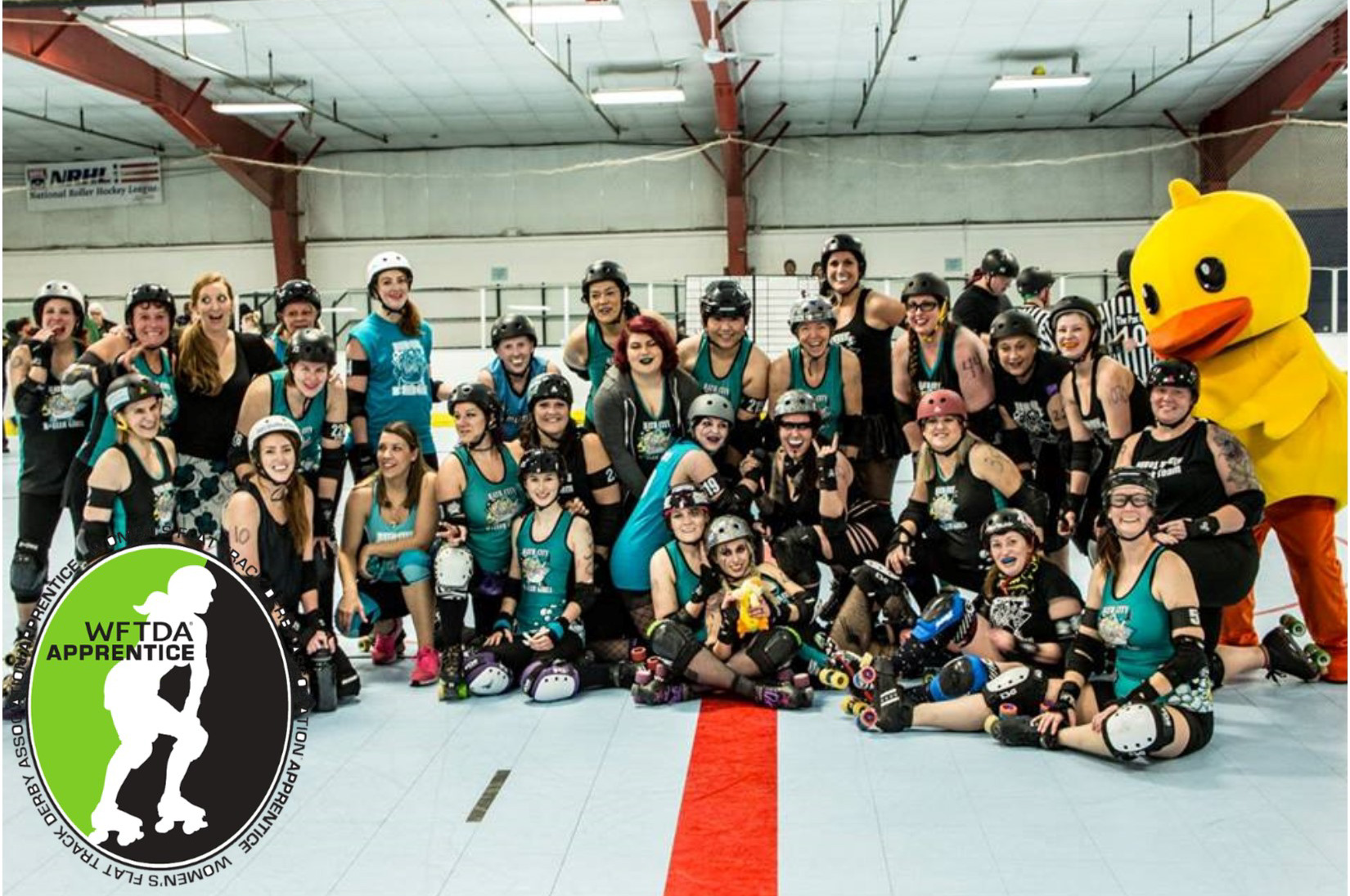 As of 2017, Bath City Roller Girls has been accepted to the WFTDA Apprentice Program. Photo by Patrice Iacovoni